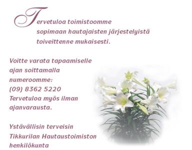 Tikkurilan Hautaustoimisto Oy